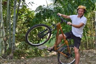 Bambusowy rower, Sungai Siput, Malezja
